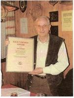 Maultaschendiplom für Rolf Schiller für hervorragende Leistungen